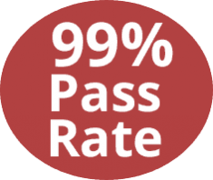 We have a 99 percent pass rate
