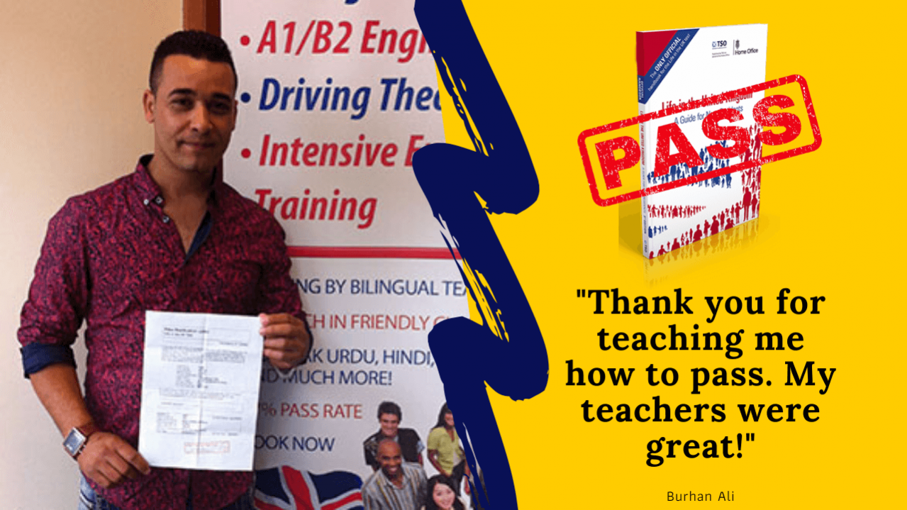life in the uk test student has passed his exam