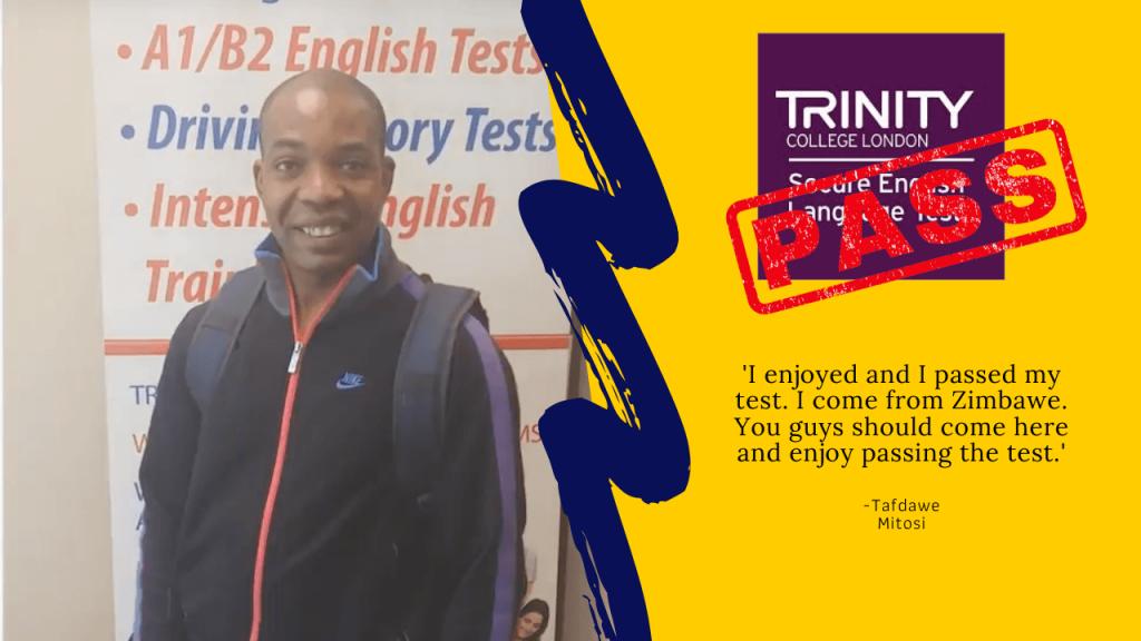 Student passes their B1 english test
