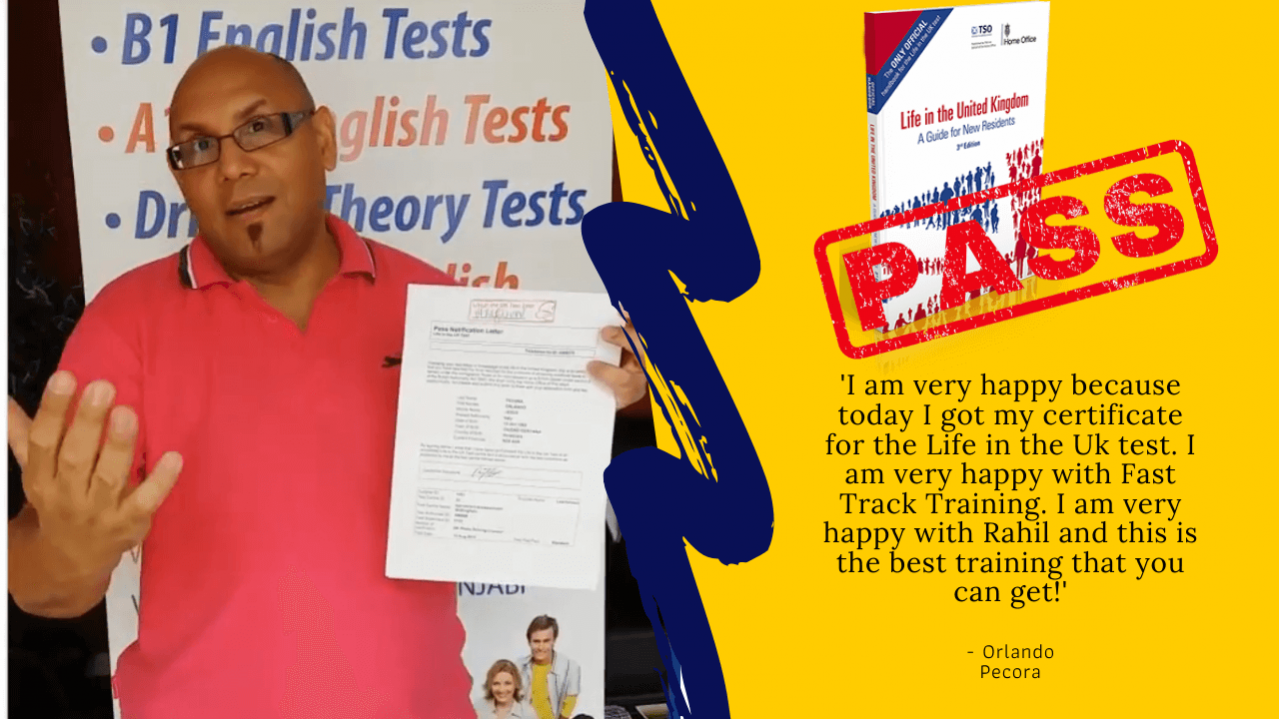 Student passes their life in the UK test online