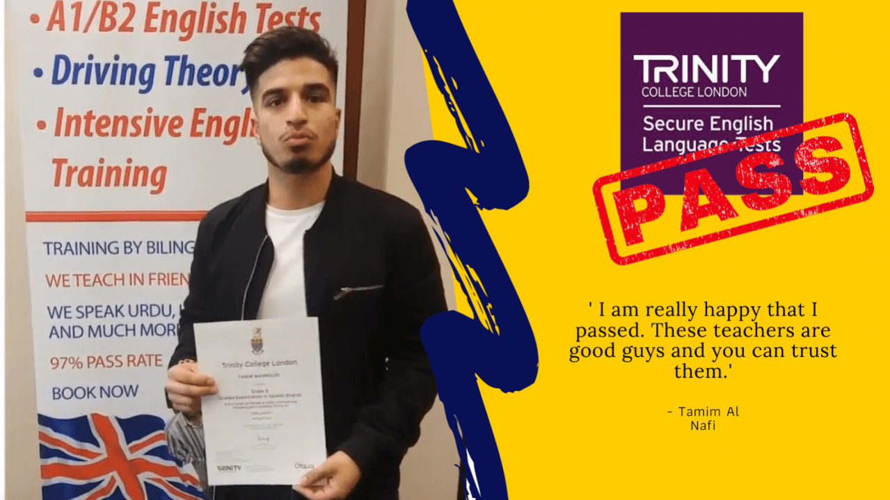 B1 english test trinity college london selt approved
