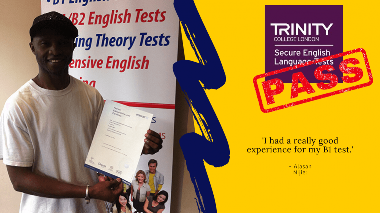 b1 english test trinity college london passed student