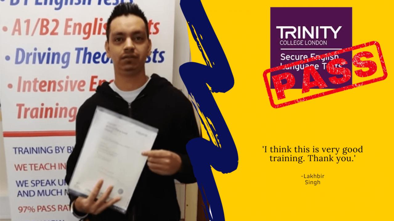 student has passed his b1 english exam for British citizenship