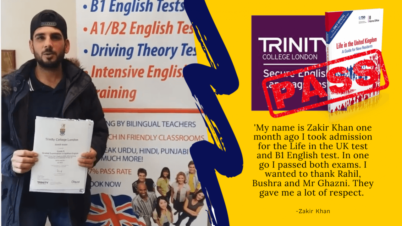 passed b1 english and life in the uk test using the book