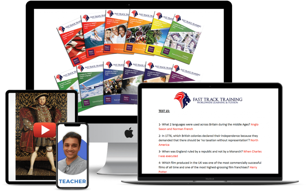Life in the UK test training material and the book online