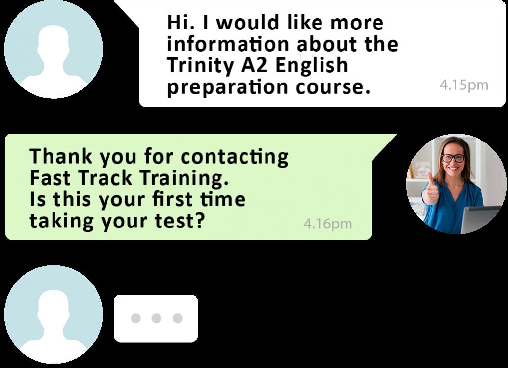 A2 English test training speak to a teacher