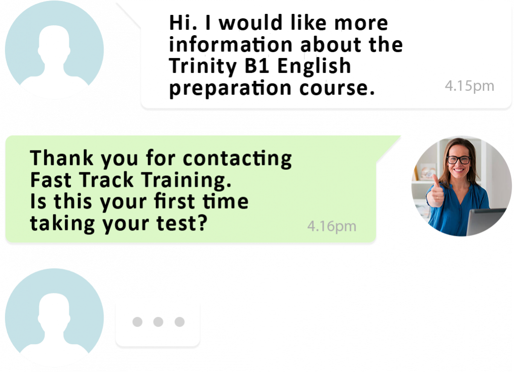 B1 English test training speak to a teacher