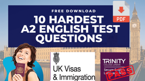 Free A2 English Language test questions