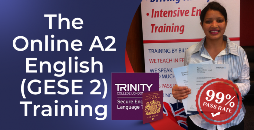 The online A2 English training course