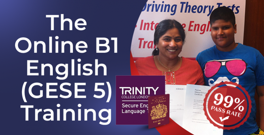 The online B1 English training course