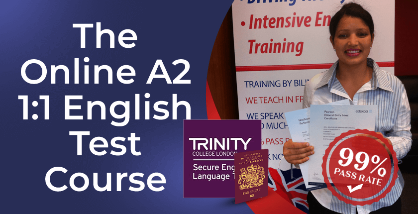 A2 English test one to one training