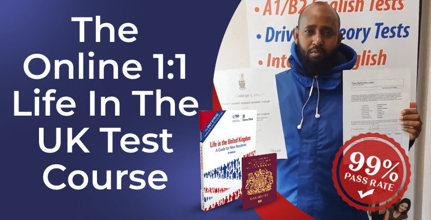 Life in the UK test private one to one training