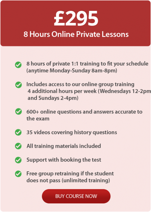 One to One Life in the UK Test training online