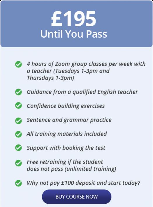 B1 English test training online