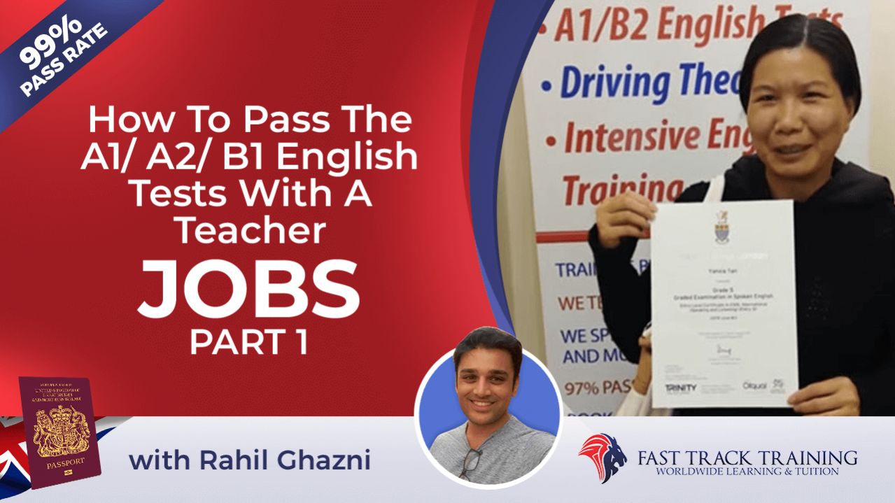 A2 and B1 English training online lesson 1 Jobs