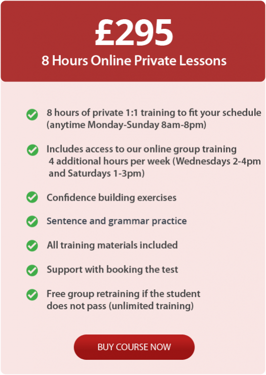 A2 English test training online